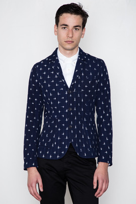 Wings + Horns Unstructured Ikat Blazer