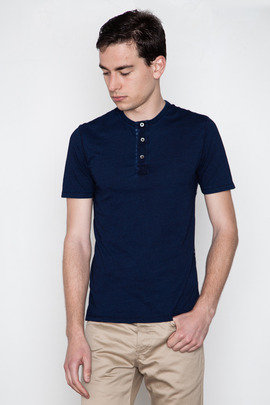 Wings + Horns Indigo S/S Pocket Henley