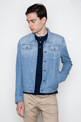 Wings + Horns Indigo Trucker Jacket