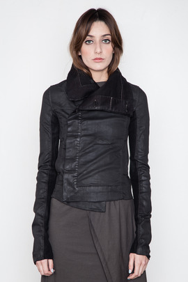 DRKSHDW Women's Black Wax Biker Jacket