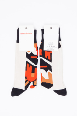 Henrik Vibskov Men's White Sand Mask Socks