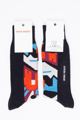 Henrik Vibskov Men's Black Mask Socks