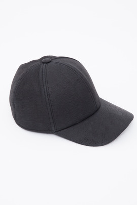 DRKSHDW Women's Black Blistered Leather Cap
