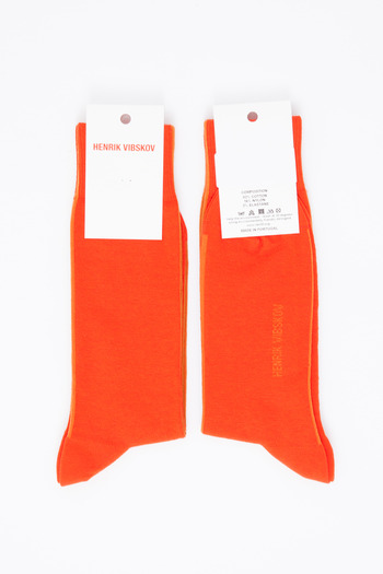 Henrik Vibskov Men's - Multi Red Helsinki Socks