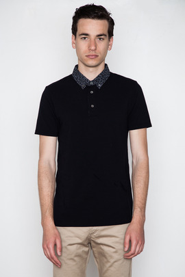 Wings + Horns Exclusive Overdyed Leopard Collar Polo