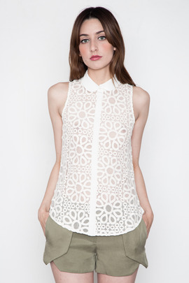 Addison Calvery Long Sleeveless Shirt