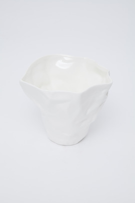 Roost Crumpled Porcelain Bowl