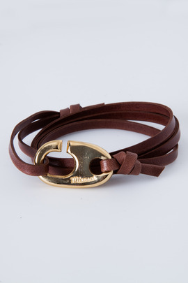 Miansai Gold/Brown Brummel Hook Bracelet