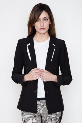 Funktional Black Reflection Cut Out Blazer