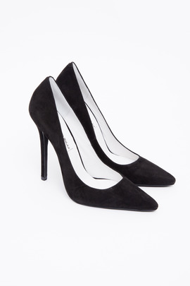 Jeffrey Campbell Black Suede Darling Pump