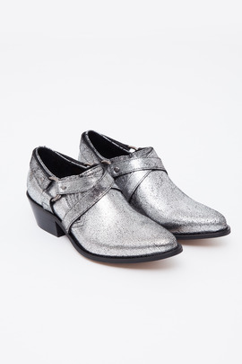 To Be Announced Cracked Silver Desi Harness Shoe