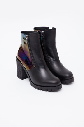 To Be Announced Black Petrol Sarabelle Double-Zip Boot
