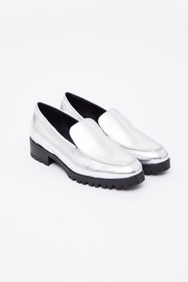 To Be Announced Silver Patent Erma Loafer