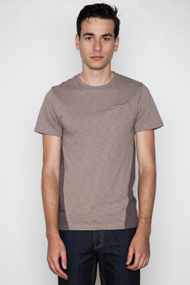 Robert Geller Seconds Grey Contrast Back Pocket T-Shirt