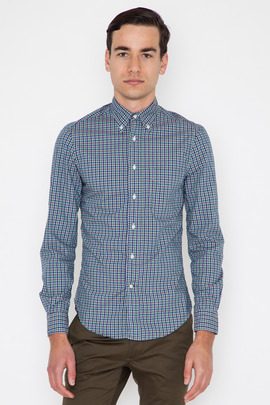 Gitman Bros. Vintage Blue Archive Tartan Check