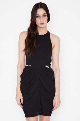 Shona Joy The Worshipped Draped Mini Dress