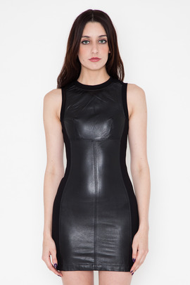 Funktional Atomic Leather Panel Dress
