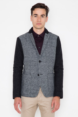Wings + Horns Merino Wool Colorblocked Blazer