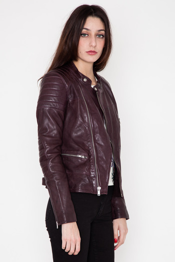 BLK DNM Women's - Aubergine Leather Jacket 22