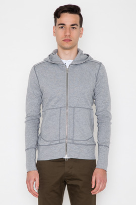 Wings + Horns Heather Grey Base Zip Hoodie