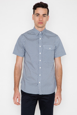 Wings + Horns S/S Quill Print Fisherman Shirt