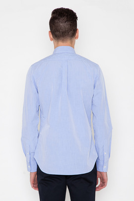 Wings + Horns Blue Three-Needle Poplin Shirt