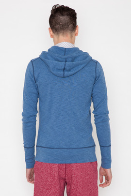 Wings + Horns Cadet Blue Base Zip Hoodie