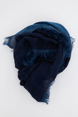 Wings + Horns Navy/Indigo Wrap Scarf