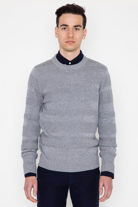 Wings + Horns Grey Knit Sea Crewneck