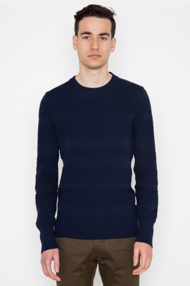 Wings + Horns Navy Knit Sea Crewneck
