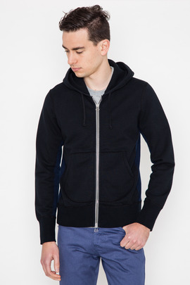Wings + Horns Wave Knit Panel Zip Hoodie