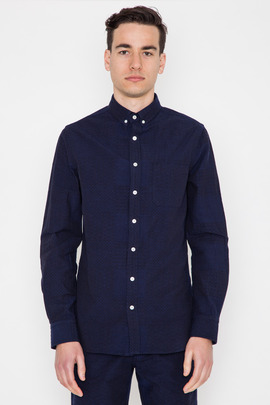 Wings + Horns Patchwork Sashiko Embroidered Shirt