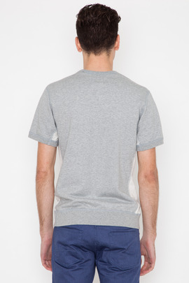 Wings + Horns Wave Knit Panel S/S Sweatshirt