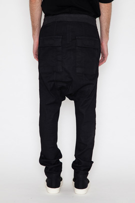 DRKSHDW Men's Black Mineral Wash Denim Drawstring Long Pant