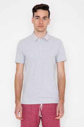 Wings + Horns Quill Print Pique Polo