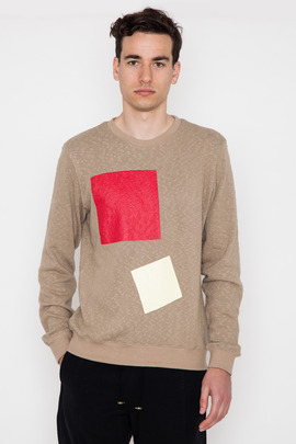 Robert Geller Square Print Textured Sweatshirt