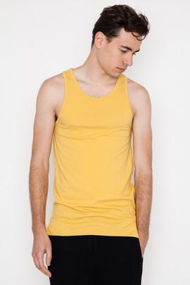 Robert Geller Seconds Yellow Rolled Hem A-Shirt