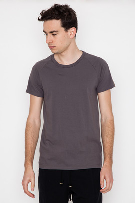 Robert Geller Seconds Khaki Sleeve Stripe T-Shirt