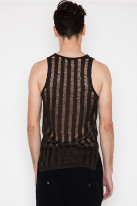 Robert Geller Ladder Knit Tank
