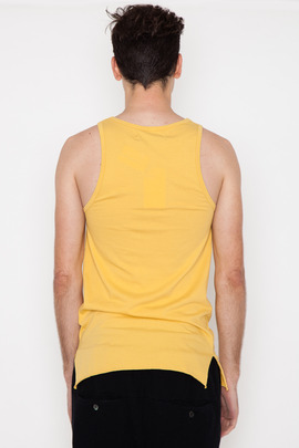 Robert Geller Seconds Yellow Rolled Hem A-Shirt