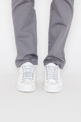 Wings + Horns White/White Leather Low-Top Sneaker