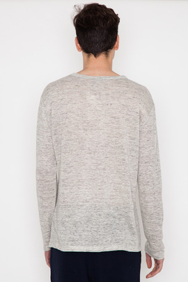 T by Alexander Wang Men's Heather Linen L/S Tee