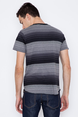 Wings + Horns Black Sakiori Stripe S/S Henley