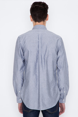 Wings + Horns Grey L/S Sashiko Monogram Oxford