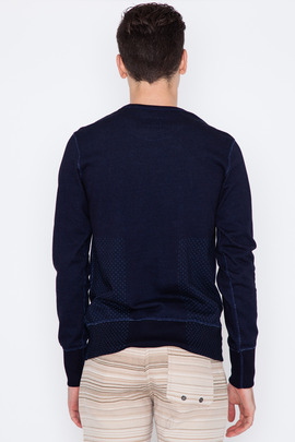 Wings + Horns Sashiko Print Crewneck Sweatshirt