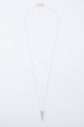 Adina Reyter Long Solid Pavé Triangle Necklace