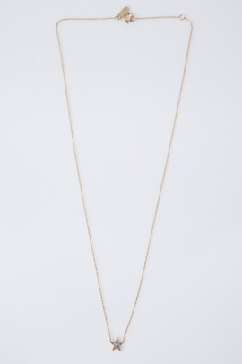 Adina Reyter Gold Tiny Solid Pave Star Necklace
