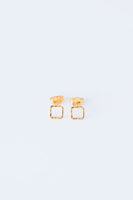 Adina Reyter Gold Vermeil Tiny Square Post Earrings