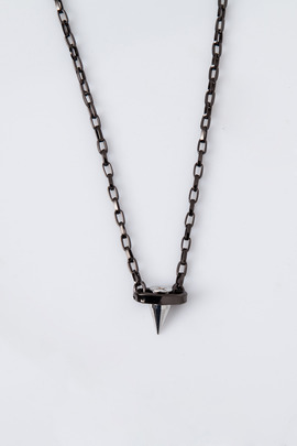 "Joomi Lim Rhodium/Hematite ""Pretty in Punk"" Pendant Necklace"