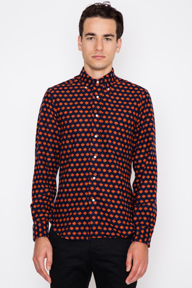 Gitman Bros. Vintage Orange Portuguese Flannel Dot